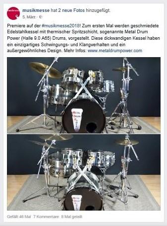 Facebook Metal Drum Power
