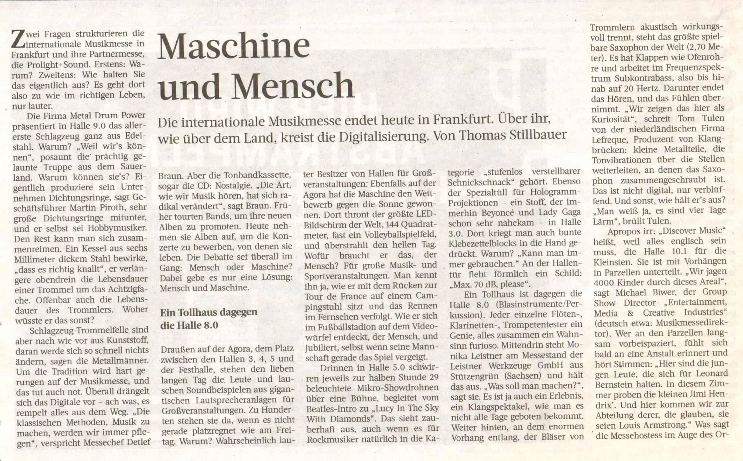 Frankfurter Rundschau, 14./15. April 2018