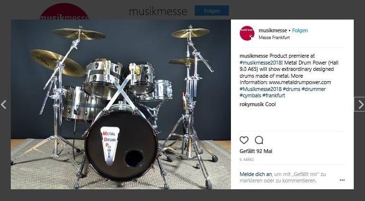 Musikmesse Frankfurt Metal Drum Power