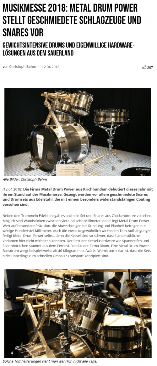 Bonedo Metal Drum Power